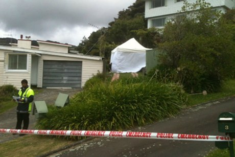 The scene on Sunrise Boulevard where the woman's body was found (Photo: Jerram Watts /3 News)