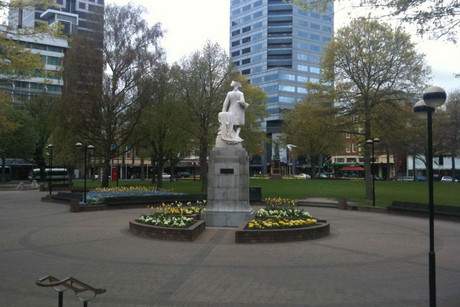 Victoria Square before the Christchurch earthquakes
