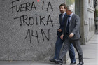 Anti-government graffiti in Madrid, Spain (Reuters)