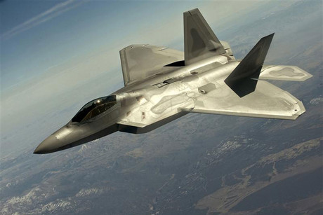 US Air Force handout photo of a F-22 Raptor over Nevada (Reuters)