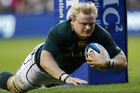 Hooker Adriaan Strauss scored both of the Springboks' tries (Reuters)