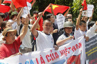 Vietnamese in Hanoi protest against China's claim to disputed islands in the South China Sea (Reuters file)