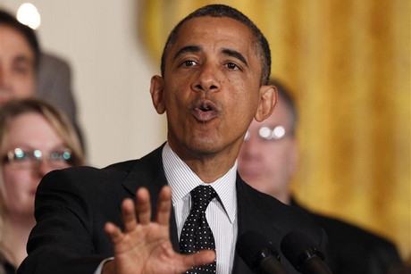 US president Barack Obama delivers a statement on the fiscal cliff (Reuters)
