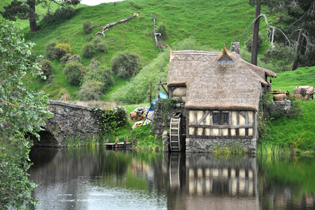 The set of the film The Hobbit near the town of Matamata (AAP)
