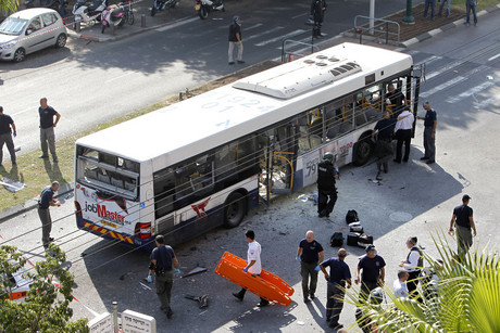 The bus in Tel Aviv (Reuters)