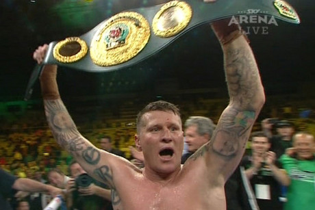 Newly-crowned boxing world champion Danny Green
