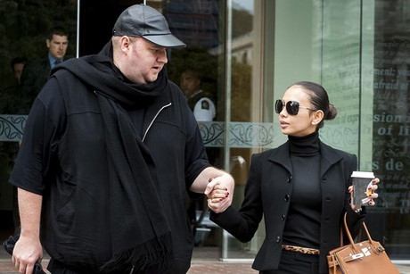 Kim Dotcom and his wife Mona