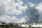 Mt Tongariro erupted for about five minutes on Wednesday  (Photo: 90 seconds TV)