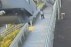 The disturbing CCTV footage reveals the exact moment the man decided to follow Noreen Roudon down a secluded pathway in West Auckland