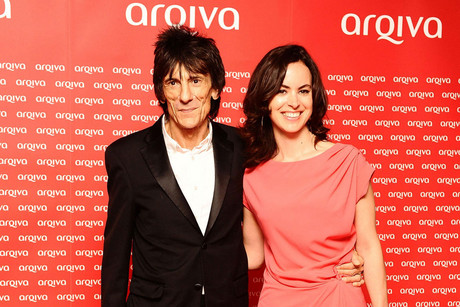 Ronnie Wood and Sally Humphreys (AAP)
