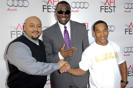 Documentary subjects Raymond Santana, Yusef Salam and Korey Wise arrive at the Hollywood screening of the movie about their case 'The Central Park Five' during AFI FEST in Los Angeles, California (Reuters)