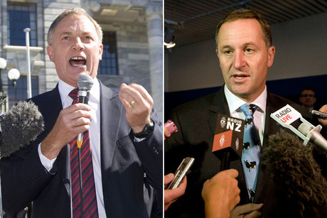 Phil Goff and John Key