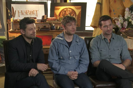 Andy Serkis, Richard Armitage and Martin Freeman