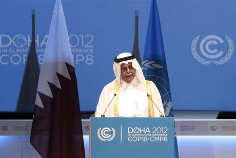 Abdullah bin Hamad Al-Attiyah, President of the (COP18) at the United Nations Framework Convention on Climate Change (Reuters)