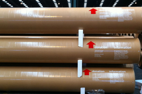 The 16.5 metre tubes will be on display for a week (supplied)
