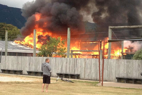 No one was injured in the fire (photo: Wade Ruebe)