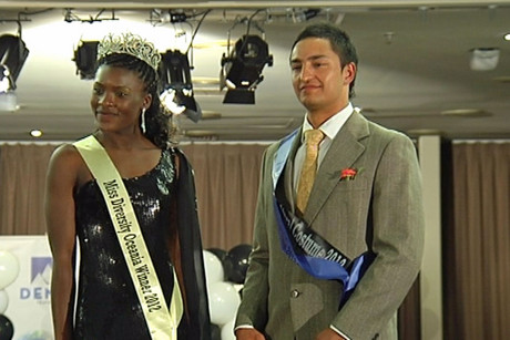 Zimbabwean Idai Kudakwashe and Kiwi Shanye Amner are Miss and Mr Diversity Oceania