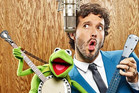 Bret McKenzie with Kermit the Frog