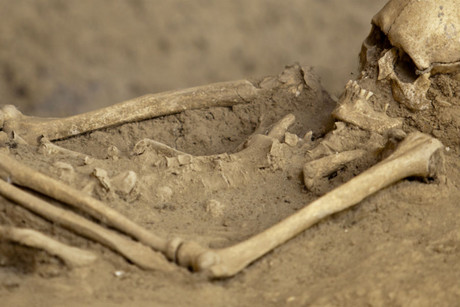 The 1400-year-old remains are likely still where they were originally buried