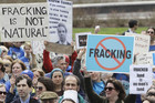 There has been widespread opposition to fracking (file)