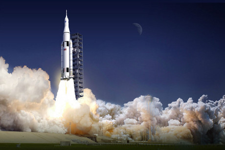 Artist's impression of the Space Launch System (NASA)