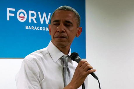 A screen shot from the video, released by Barack Obama's campaign