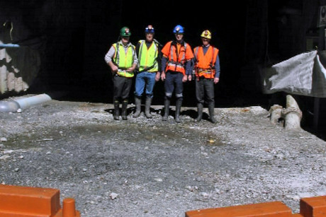 The families' mine experts visited Pike River today