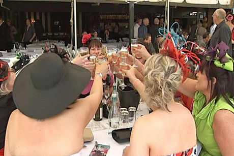 Despite the video, police say most people were well behaved at the Melbourne Cup