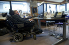Stephen Hawking at his desk (Reuters)