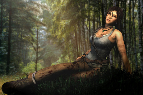 Promotional shot for the upcoming Tomb Raider title