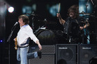 Paul McCartney performing with Dave Grohl (Reuters)