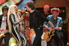 "The Rolling Stones and Lady Gaga perform onstage during the final concert of the ""50 and Counting Tour""  (Reuters)"