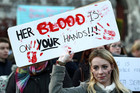 Campaigners in Dublin in November called for changes to Ireland's abortion laws (Reuters file)