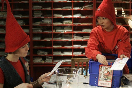 Santa's mail elves (Reuters file)