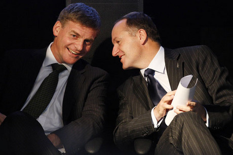Finance and Deputy Prime Minister Bill English, and Prime Minister John Key (file)