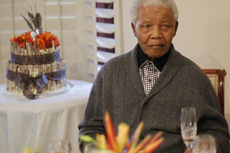 Nelson Mandela on his 94th birthday in July (Reuters file)