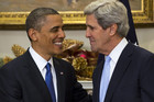 US President Barack Obama and John Kerry (AAP)