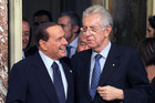 Italy's former leader Silvio Berlusconi (L) may be the least of Mario Monti's (R) problems for now (AAP)