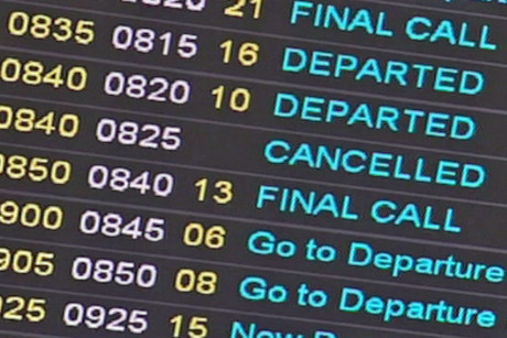 All flights in and out of the capital were cancelled yesterday afternoon