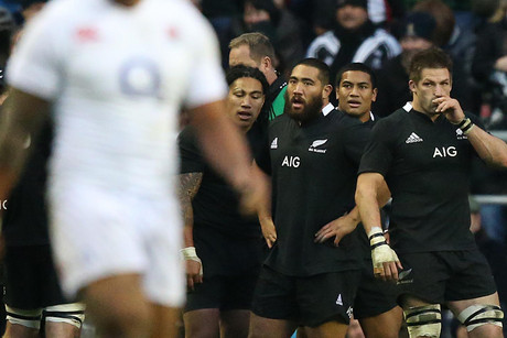 The All Blacks were beaten 38-21 by England at Twickenham (Reuters)