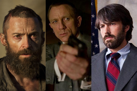 Hugh Jackman in Les Miserables; Daniel Craig in Skyfall; Ben Affleck in Argo