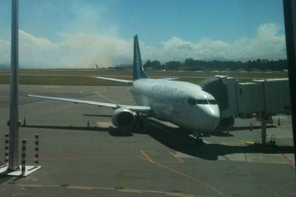 Flights were unaffected by the smoke (Photo: Dustin Habeck)