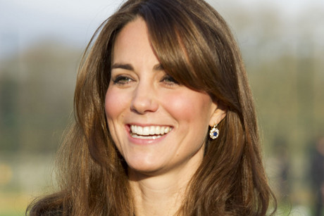 The Duchess of Cambridge smiling last week (AAP)