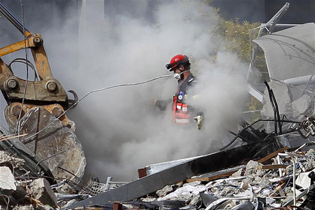 Eight people survived the collapse of the CTV building but died trapped in the wreckage (Reuters)