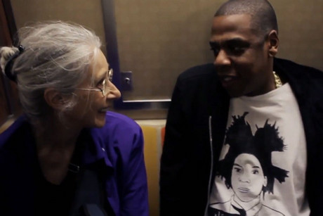 Jay-Z meets Ellen on the subway
