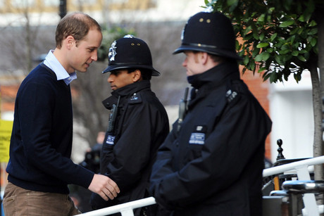 Prince William arrives at King Edward VII hospital (AAP)