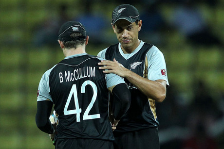 The two players at the centre of the crisis, Ross Taylor and Brendon McCullum (photosport file)