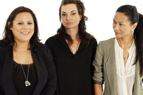 Musicians Anika Moa, Hollie Smith and Boh Runga appear in the video