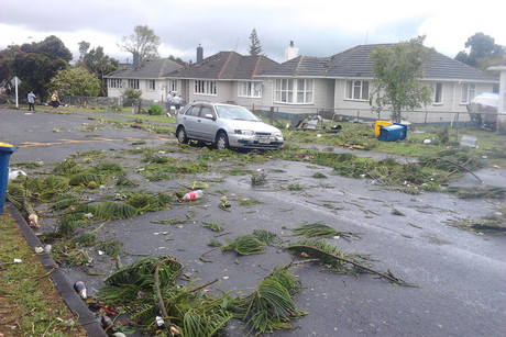 Aftermath of the storm in Hobsonville (Photo: Kendal Johnson)