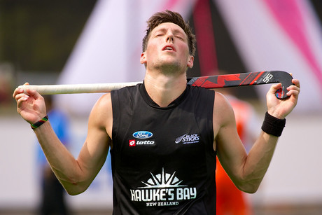 Black Sticks Simon Child shows his devastation at the loss (Photosport)